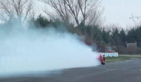 Ferrari F40 met kapotte turbo