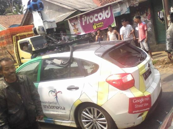 Google Street View auto crash Indonesië
