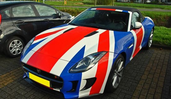 Jaguar F-Type Union Jack wrap