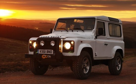 Land Rover Defender sundown