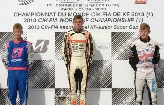 Max Verstappen op podium eerder dit jaar