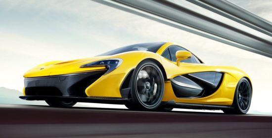 McLaren P1 geel met carbon