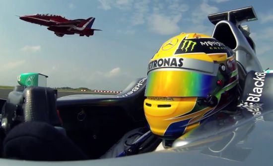 Mercedes F1 vs Red Arrows