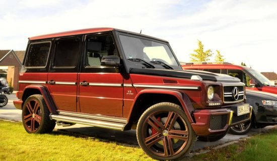 Mercedes G63 AMG two-tone gespot