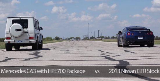 Mercedes G63 AMG vs Nissan GT-R