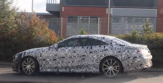 Mercedes S63 AMG Coupe spyvideo