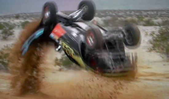 Rally Fighter flips over