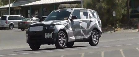 Range Rover Sport spyshot