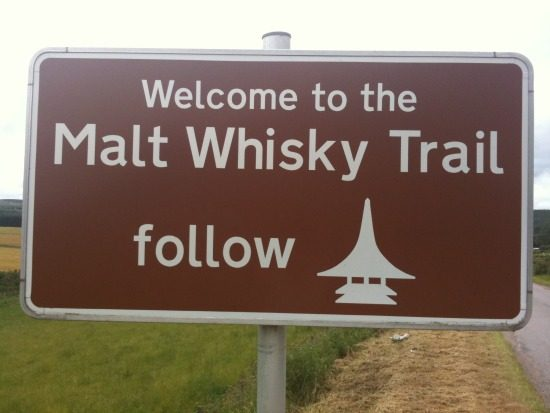 Malt whisky-route, drink & drive