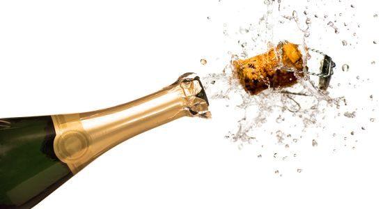 Spuitende champagne