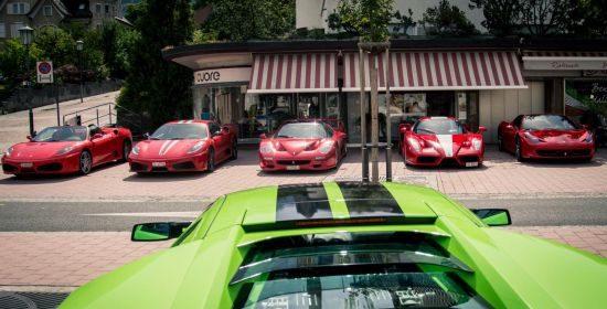 Supercars gespot in Liechtenstein