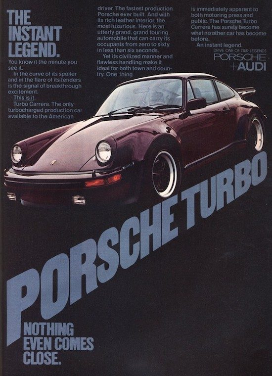Porsche Turbo Nothing Comes Close