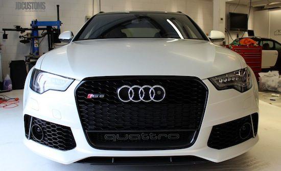 De Audi RS6 van Afrojack is voortaan Satin Pearl White