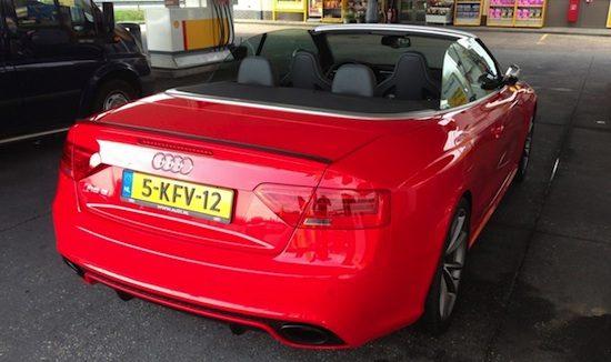 Audi RS5 Cabrio gespot!