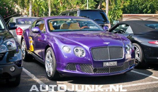 Bentley Continental GT met paarseritis