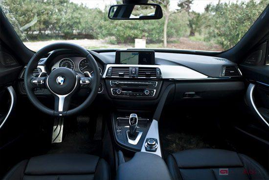 Ook prettig: het interieur van de 335i GT