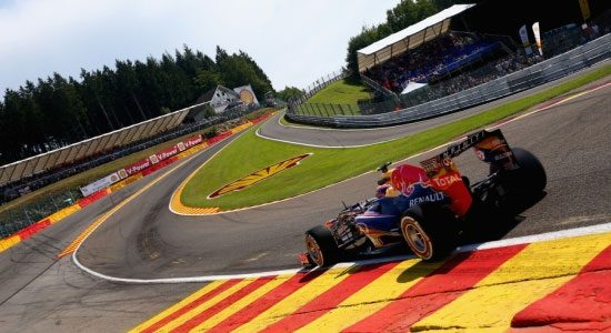 Red Bull in Eau Rouge