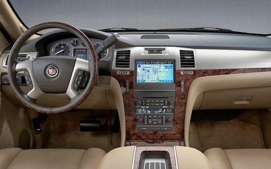 Dit is de nieuwe cadillac escalade for Escalade interieur