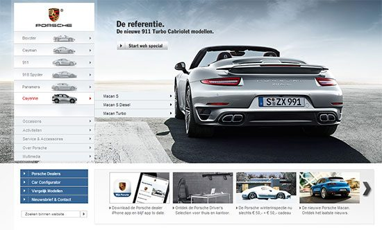 Porsche Macan website