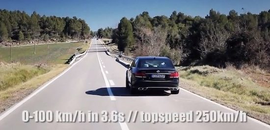 Mercedes E63 AMG S acceleration top speed