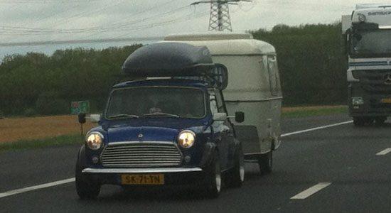 Mini + caravan = WIN!