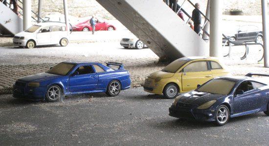 Nissan Skyline R34, Toyota Celica, Fiat 500