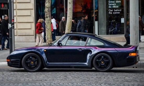 Porsche 959 heeft die paarse swagger