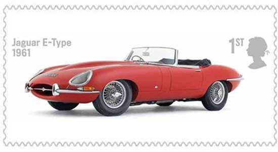 Postzegel Jaguar E-type