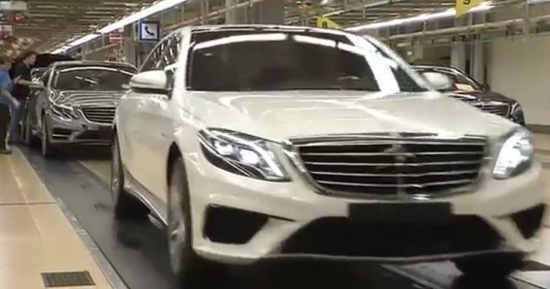 Mercedes S63 AMG productie