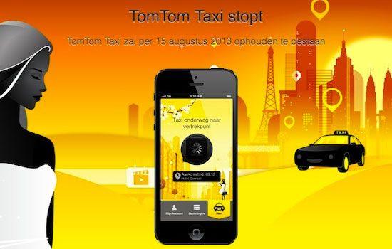 TomTom Taxi zegt superdoei