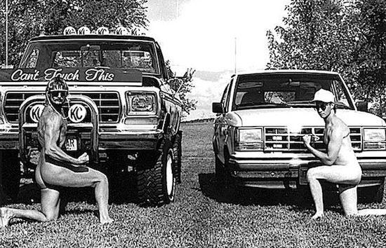 Truck nuts = gangsta