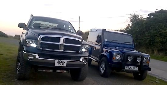 Dodge Ram vs Landrover Defender