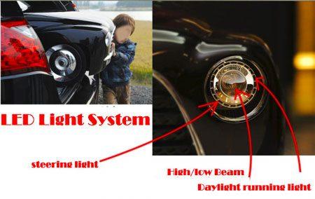 Verlichting speelgoedauto