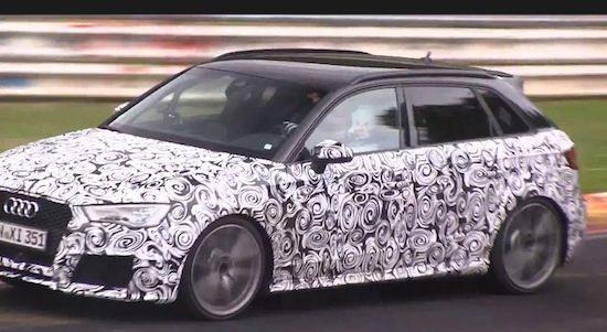 Volgende Audi RS3 laat zijn vijfcilinder alvast brullen [video]