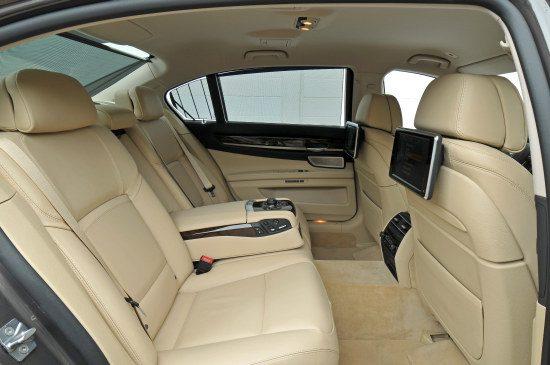 BMW 760 Li achterbank