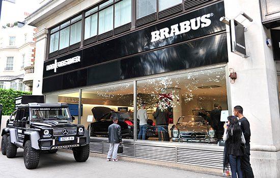 De Brabus Flagship Store in Londen