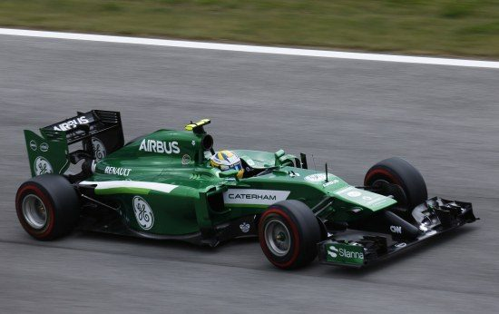 Caterham-bolide tijdens de GP van Oostenrijk