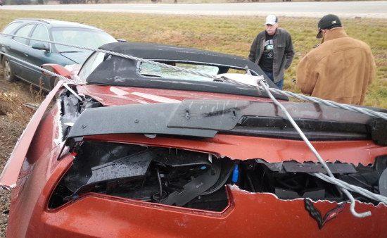 Corvette Z06-crash