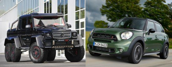 MINI Countryman vs Brabus B63S