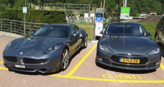 Tesla en Fisker op Groen7