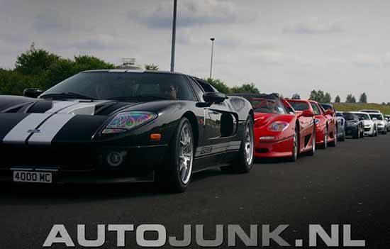Ford GT tussen de supercars