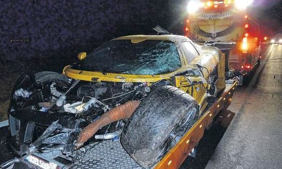 Gumpert Apollo crash Duitsland