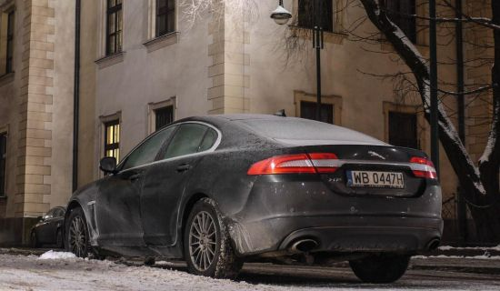 Jaguar XF in Krakau