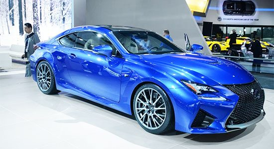 Lexus RC-F live in Detroit