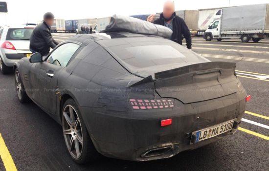 Mercedes AMG GT spyshot
