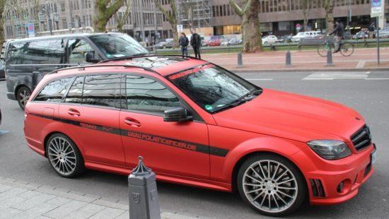 Mercedes C63 AMG Estate gespot