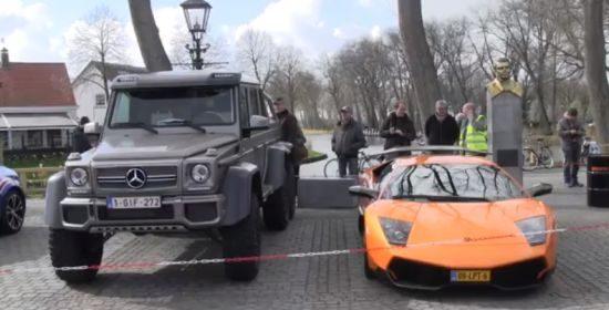 Mercedes G63 AMG 6x6 vs Lamborghini Avantador