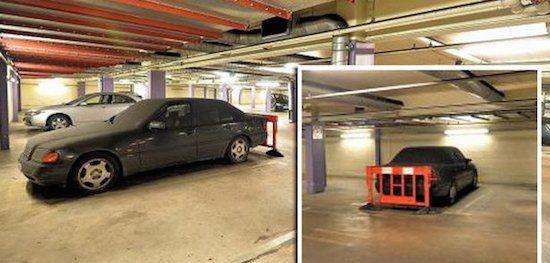 Mercedes C-klasse parkeergarage