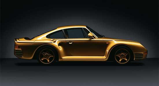 Porsche 959 gold