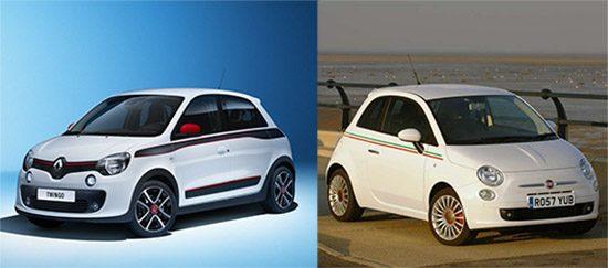 Nieuwe Twingo lijkt op Fiat 500